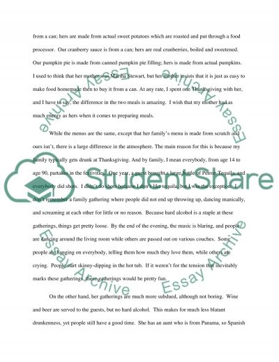 Family Gathering essay example
