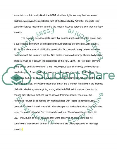 Marriage Equality essay example