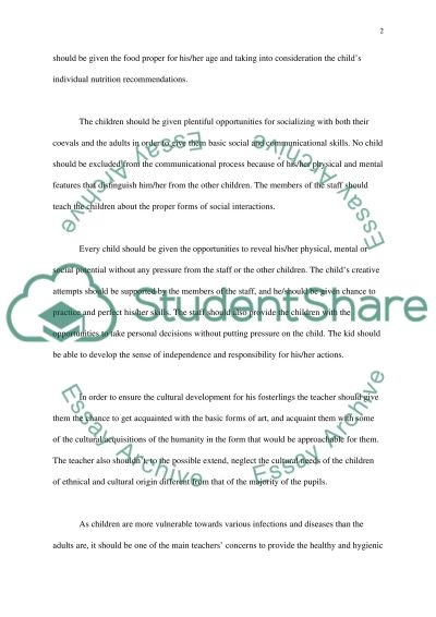 Foundations to Caring essay example