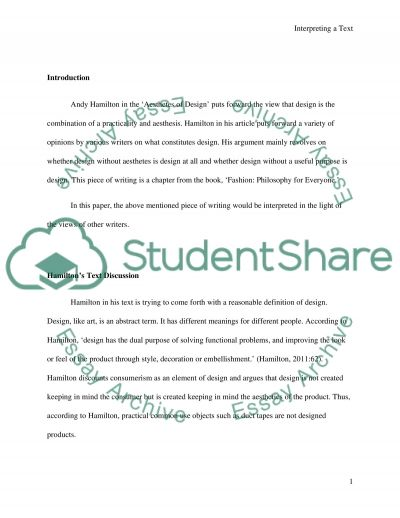 SAB554 Assignment 2: Interperting a text