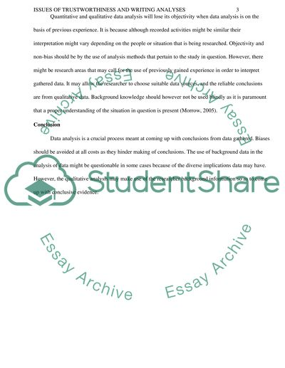 Essay On High School Issues Of Trustworthiness And Writing Analyses Healthy Eating Habits Essay also Gay Marriage Essay Thesis Issues Of Trustworthiness And Writing Analyses Coursework   How To Use A Thesis Statement In An Essay