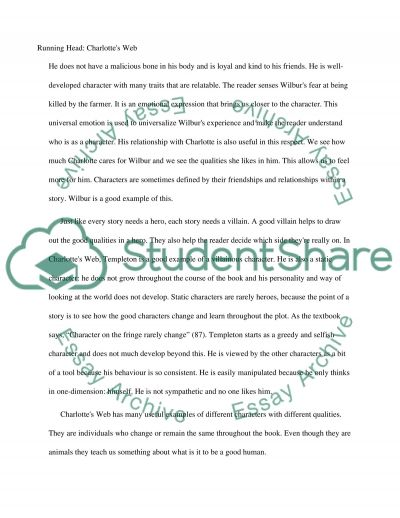 Critical response paper:charlottes web essay example