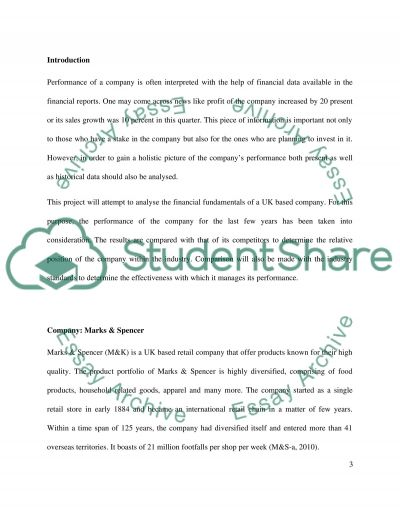Financial Analysis essay example