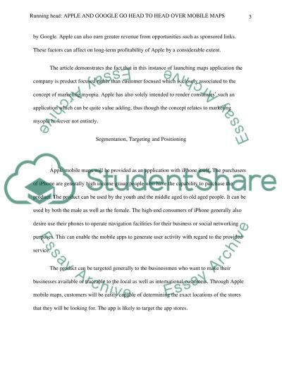 Apple and Google essay example
