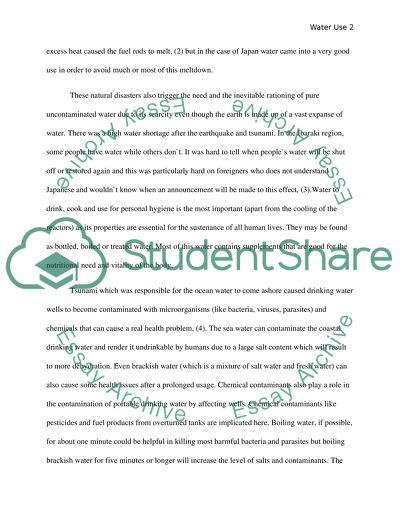 Tsunami experience essay