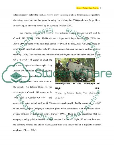 Flying Dry - Air Tahoma Fuel Starvation essay example