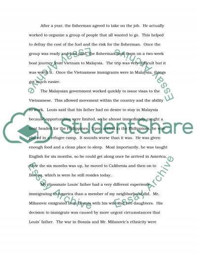 Southeast Asian in the US Ques 2 essay example