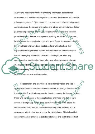 Consumer Health Informatics and Privacy essay example