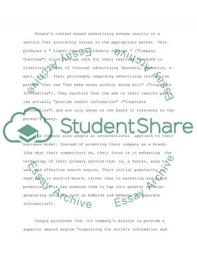 Google College Essay essay example