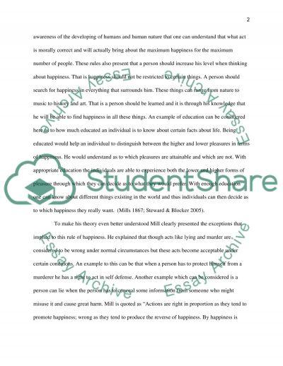 Philosophy Ethics essay example