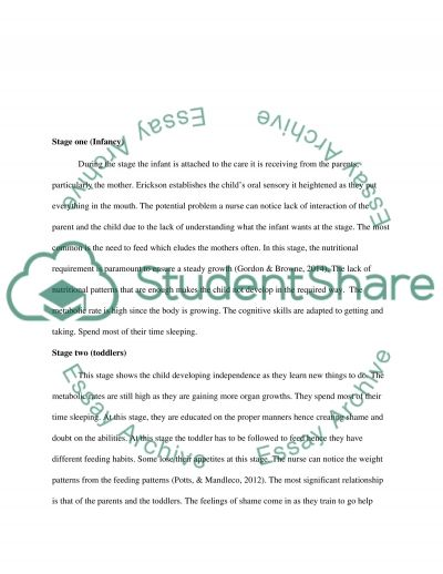 Assessment of the Child: Functional Health Pattern Analysis Worksheet essay example