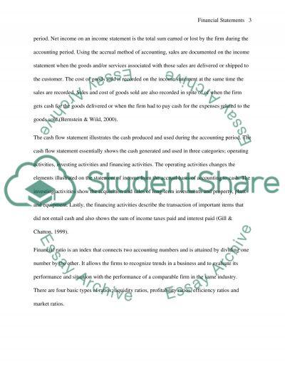 UNDERSTANDING FINANCIAL STATEMENTS essay example