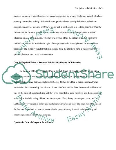 Discipline in the Public Schools