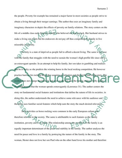 Essay the rocking horse winner by d h lawrence top cheap essay ghostwriters services online