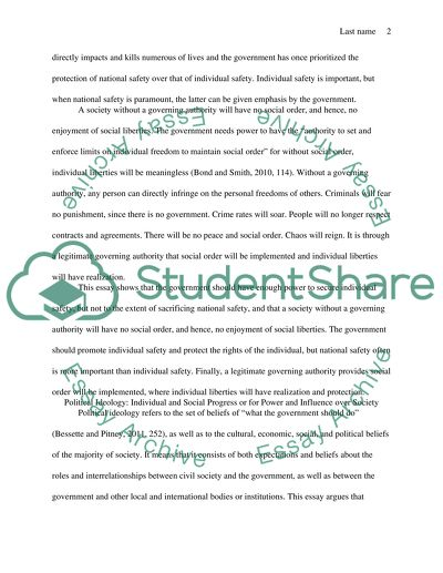 power essay introduction