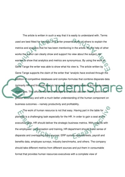 The analysis of the article Not just any seat at the table essay example