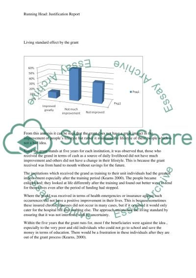 Justification report essay