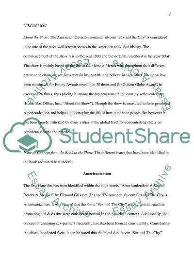 TV Paper essay example