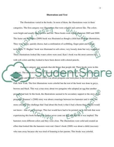 Analysis of Picture Books essay example