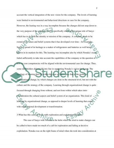 Managing Organisation Change essay example