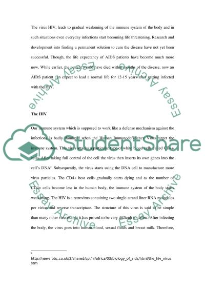 Aids and How It Spread Globally essay example