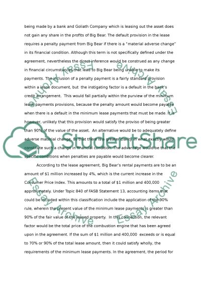 Lease essay example
