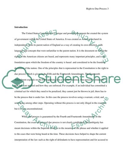 5th amendment essay