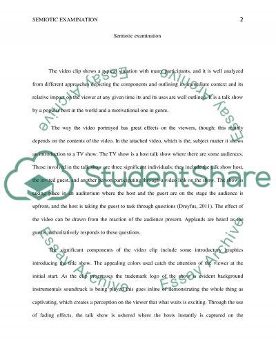 Semiotic examination essay example