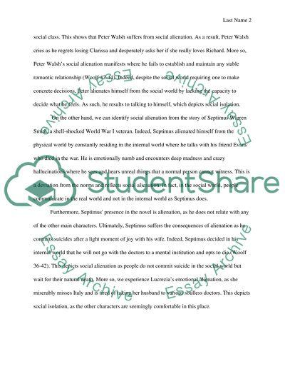 Alienation Essay Example