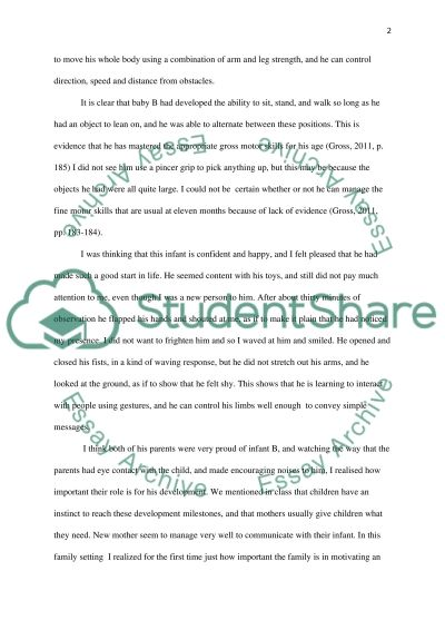 midterm paper infant observation essay example topics and well  midterm paper infant observation essay example