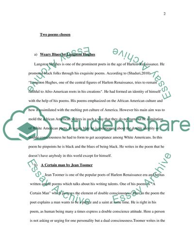 Harlem Renaissance Poets Essay Example  Topics And Well Written  Harlem Renaissance Poets Essay Writing Examples For High School also How To Write An Essay In High School  Write A Good Thesis Statement For An Essay