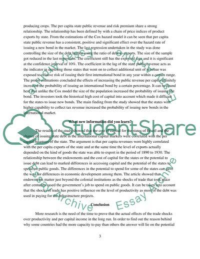 Journal Articles Summaries