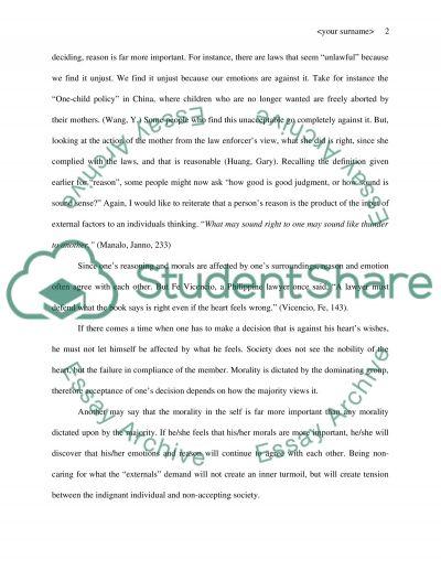Moral Decisions Essay essay example