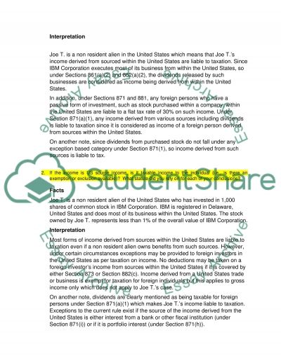 Multijurisdictional tax (Inbound taxation and Outbound taxation assignment) essay example