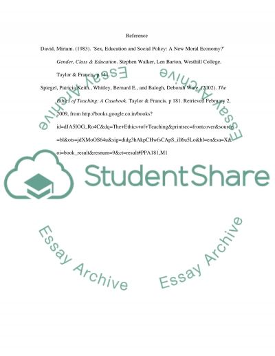 The Ethics of Teaching essay example