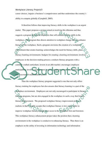 Enhancing Employees Literacy Skills