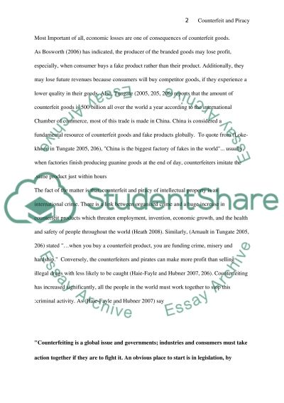 Counterfeit and Piracy essay example