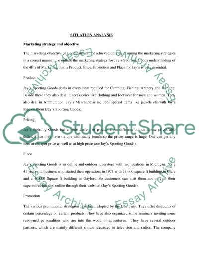 Jays Sporting Goods research paper essay example