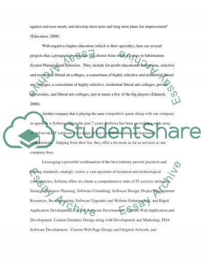 SLP 4 When a company does not have a large IT department essay example