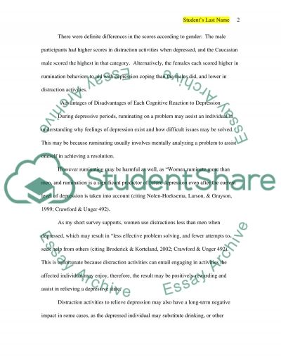 Depression and Cognitive Style essay example