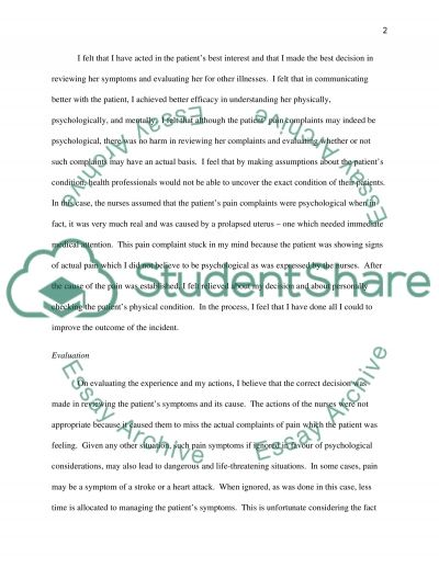 Therapeutic Encounter Essay Essay example