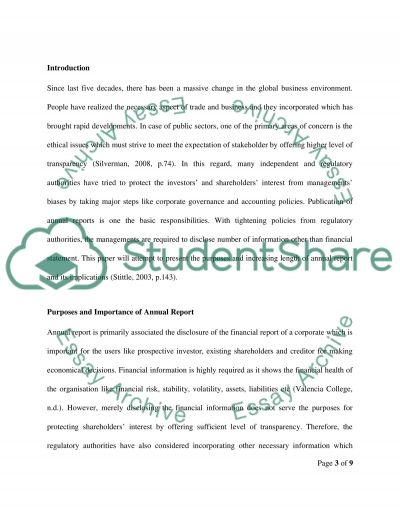 Discuss the Implications of the Increaing Length of Annual Reports  Essay example