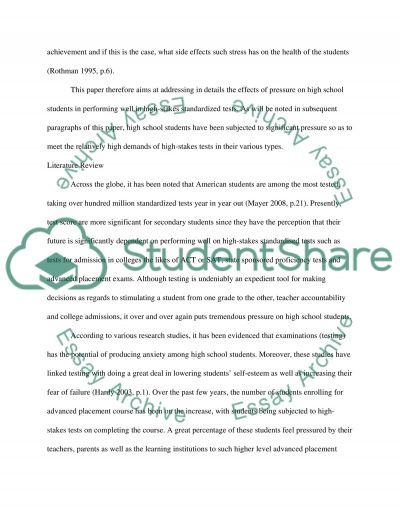 Researching Academic and Examination Stress in Secondary School Students essay example