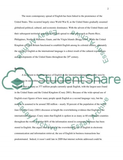 English: The international language essay example