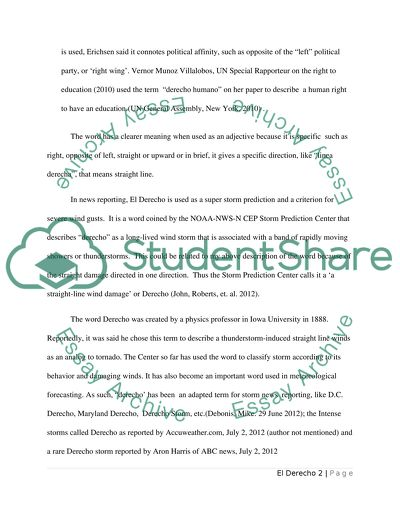 English Literature Essay Questions El Derecho Reflective Essay Thesis Statement Examples also English Essay Outline Format El Derecho Essay Example  Topics And Well Written Essays   Words Essays With Thesis Statements