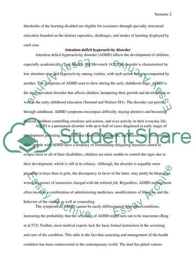 Child development research paper