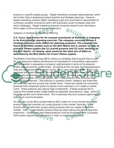 Marketing Management: MBA and SBU essay example