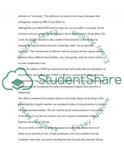 Development of DDS essay example
