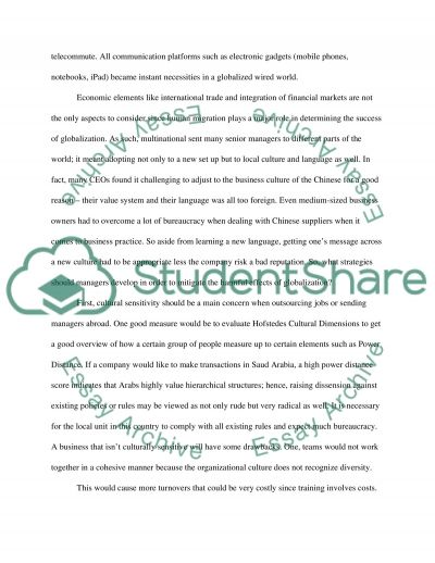 Essay on Globalization essay example