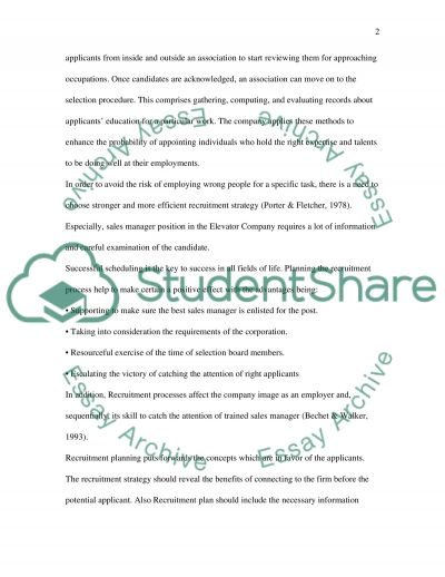 Recruitment and selection strategy essay essay example
